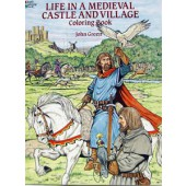 Life in a Medieval Castle Coloring Book