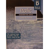 Italic Handwriting Book D, Basic & Cursive (Getty-Dubay)