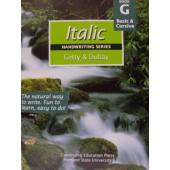 Italic Handwriting Book G, Basic & Cursive (Getty-Dubay)
