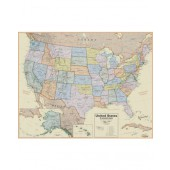 "Hemispheres Boardroom Series United States Laminated Wall Map (38"" x 48"")"