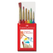 6 Assorted Triangular Paintbrushes