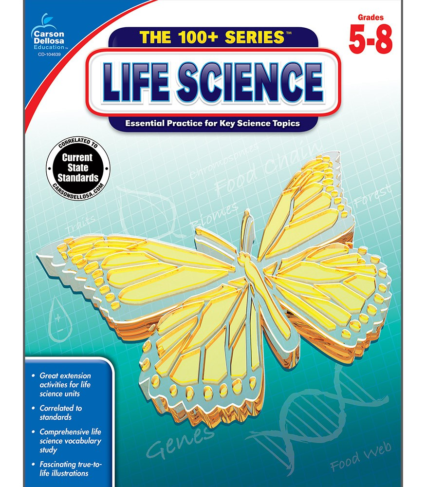 Life Science 100+ Series Workbook Grades 5-8