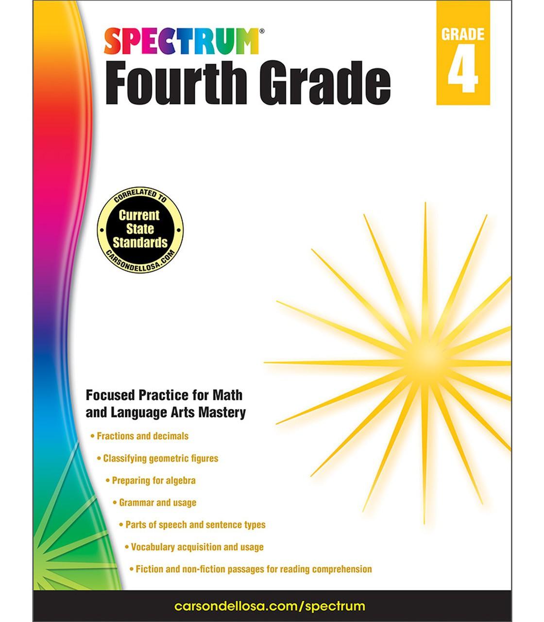 Spectrum Fourth Grade Workbook