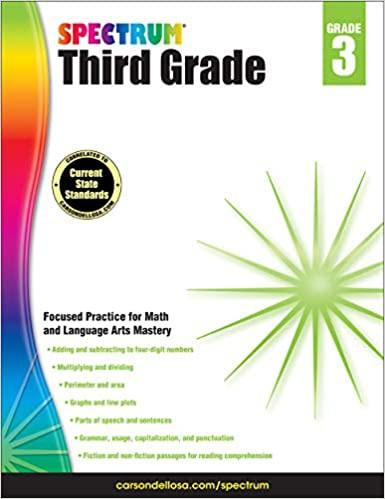 Spectrum Third Grade Workbook