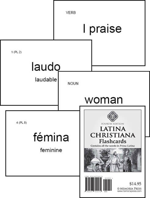Latina Christiana & Prima Latina Flashcards, Fourth Edition - Memoria Press