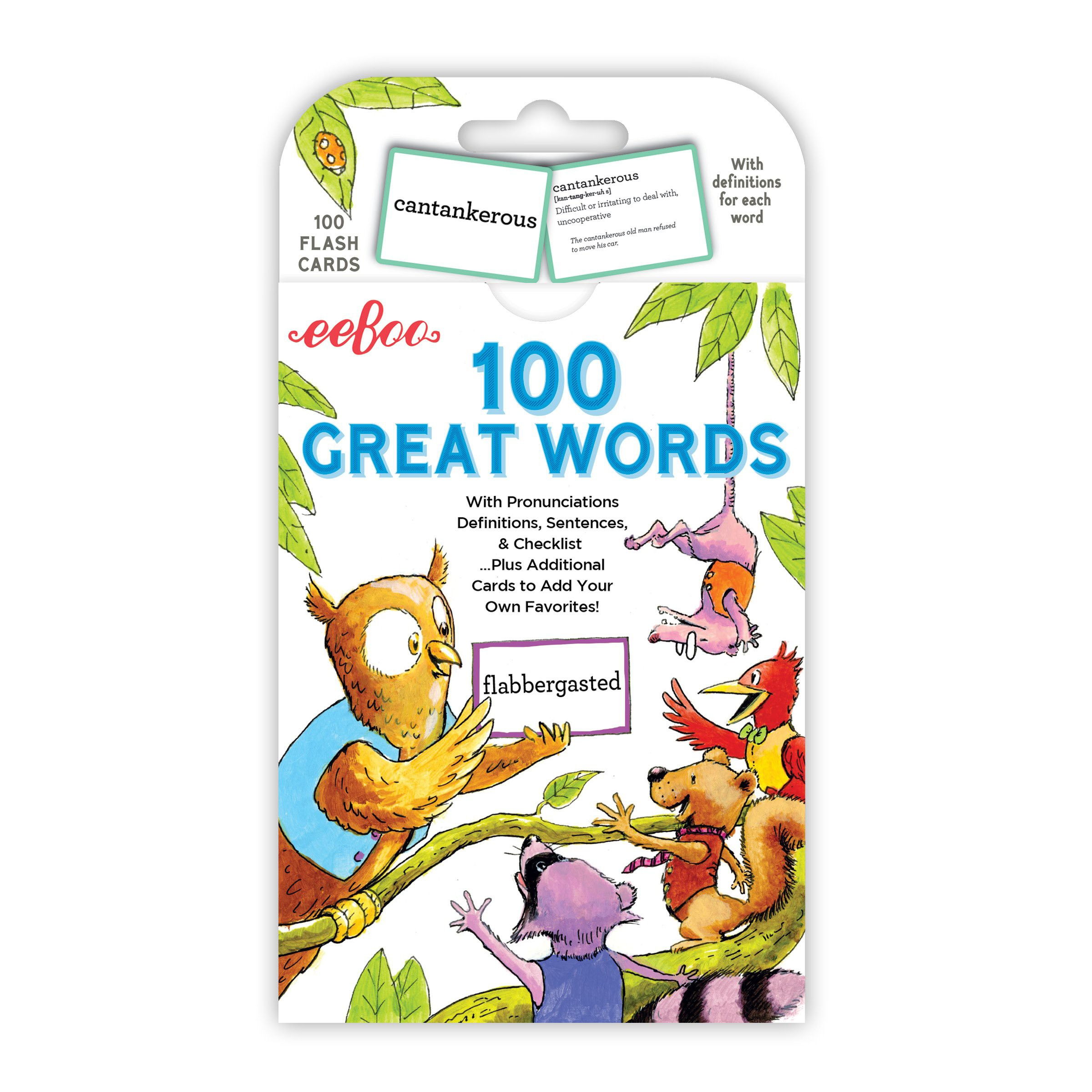100 Great Words Flash Cards from eeBoo