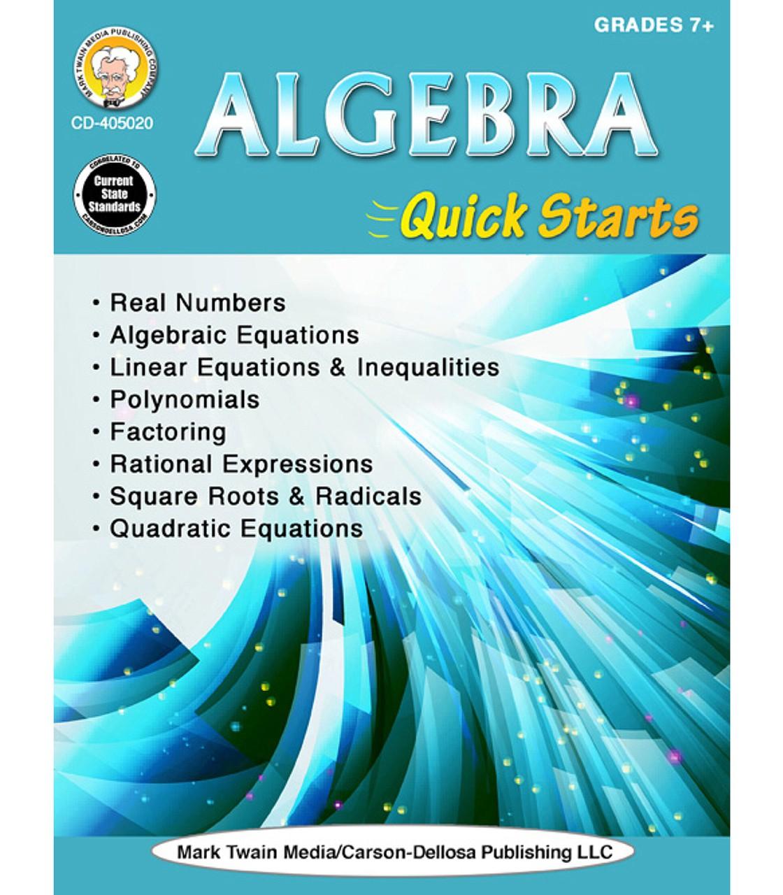 Algebra Quick Starts