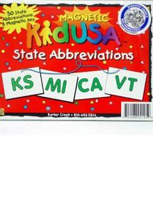 KidUSA State Abbreviations Magnets
