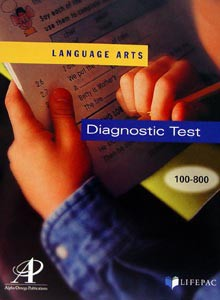 LifePac Language Arts Diagnostic Tests for Grades 1-8
