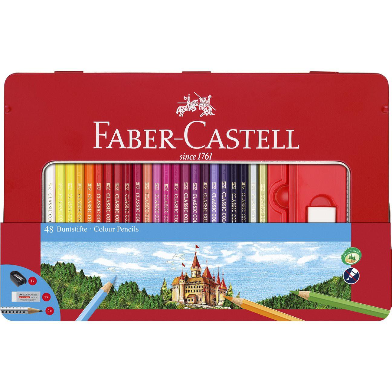 48 Classic Color Pencils & Accessories - Tin Set