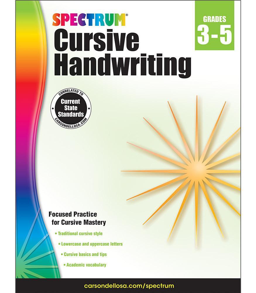 Spectrum® Cursive Handwriting.