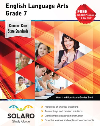 Common Core English Language Arts Grade 7 (Solaro Study Guide)