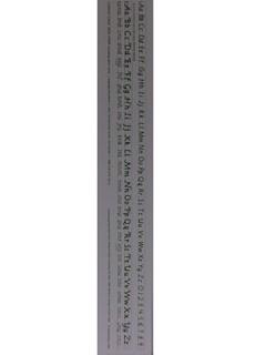 Italic Cursive Desk Strip