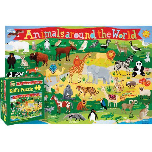 Animals Around the World 100 Piece Puzzle