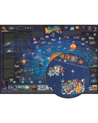 Dino's Illustrated Children's Map of the Solar System