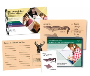 IEW The Phonetic Zoo Spelling Starter Set, Level A