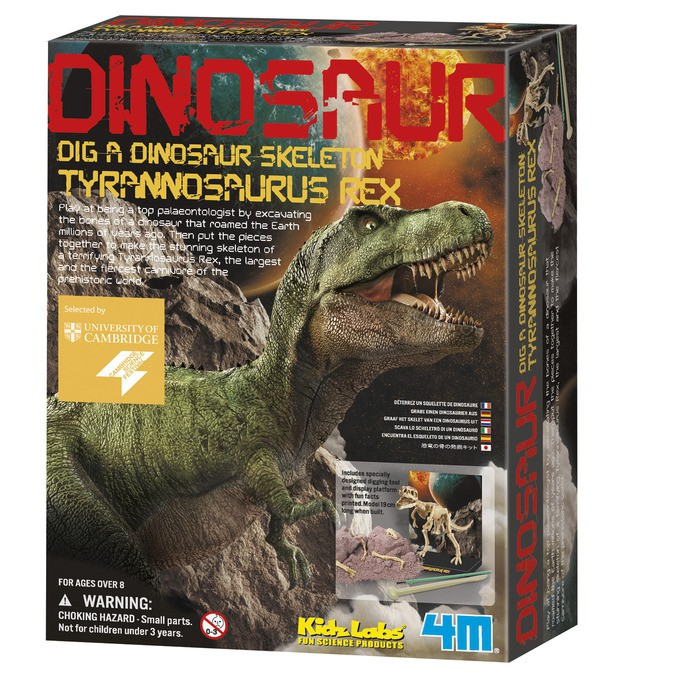 Roll over image to zoom in Kidz Lab T Rex Dino Dig Excavation Kit by Toysmith