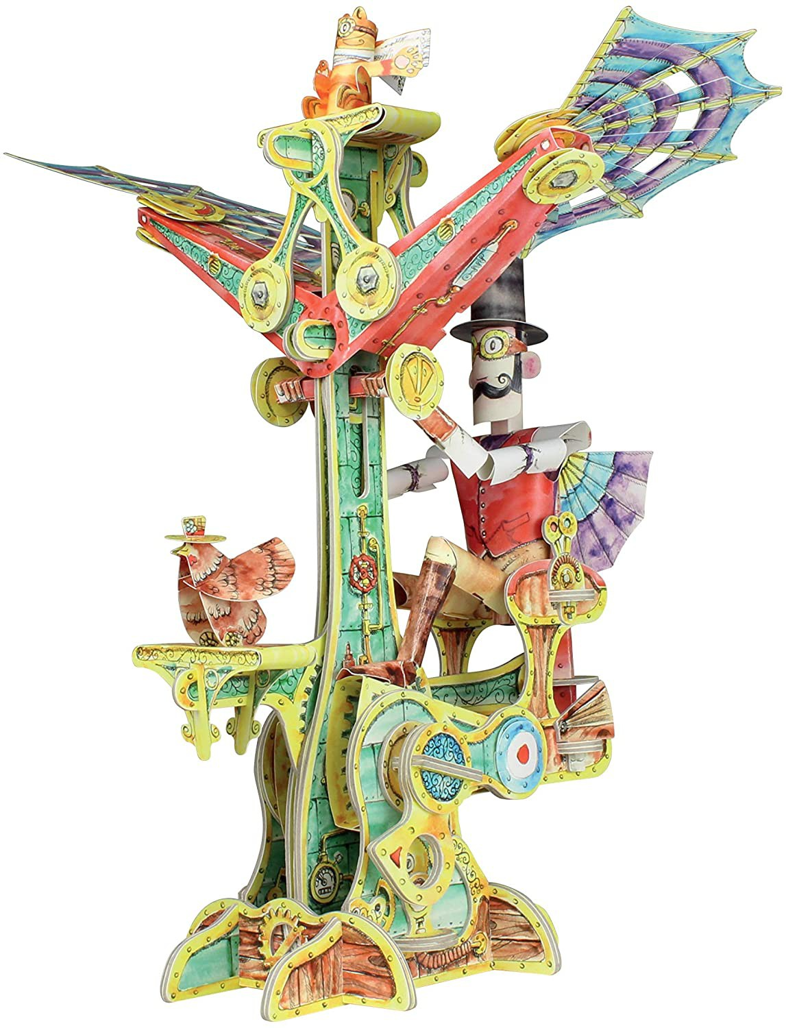 """Magnificent Flying Machine - Watch It """"Fly"""", Hand Cranked, 3D - STEM - by BABALU"""