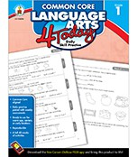 Common Core Language Arts 4 Today Workbook Grade 1
