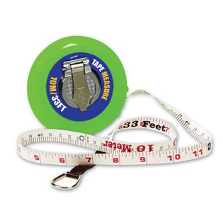 Wind-Up Tape Measure: 10 M / 33'