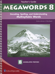 Megawords Book 8 Teacher's Guide, 2nd Edition