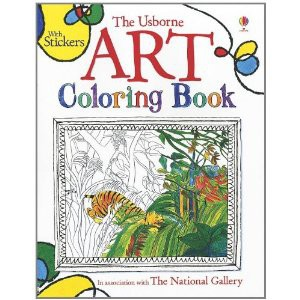 The Usborne Art Coloring Book With Stickers