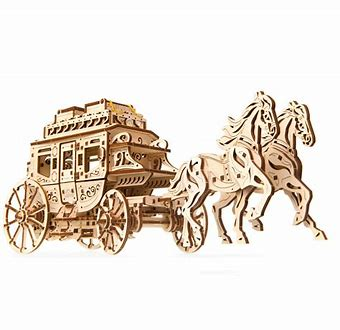 UGears Stagecoach Engineering Kit