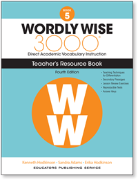 Wordly Wise 3000® 4th Edition Teacher's Resource Book 5
