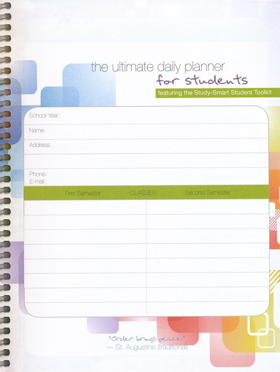 The Ultimate Daily Planner For Students (Apologia)