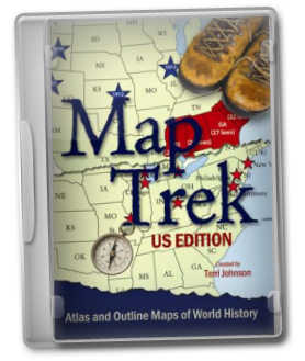 Map Trek Us Edition A Brighter Child   Map Trek: U.S. Edition Atlas and Outline Maps
