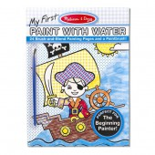 My First Paint With Water Kids' Art Pad With Paintbrush - Pirates, Space, Construction, and More - Melissa and Doug