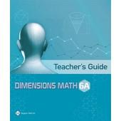Dimensions Math Teacher's Guide 6A - Singapore Math