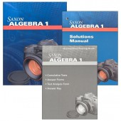Saxon Algebra 1 4th Edition Kit with Solutions Manual