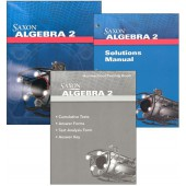 Saxon Algebra 2 4th Edition Kit with Solutions Manual
