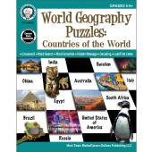 World Geography Puzzles: Countries of the World Workbook Grade 5-12