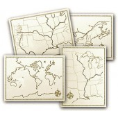 Holling Geography Map Set of 4