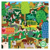 Dogs in the Park 1000 Piece Puzzle - eeBoo
