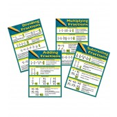 Fractions Bulletin Board Set of 4 Charts