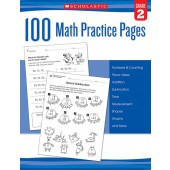 100 Math Practice Pages (Grade 2)