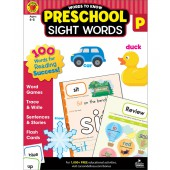 Preschool Sight Words Workbook - Carson Dellosa