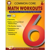 Common Core Math Workouts Resource Book Grade 6