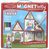 Draw & Build Castle - Magnetivity Magnetic Tiles Building Play Set - Melissa & Doug