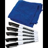 Dry Erase Pens (Black) Set of 5