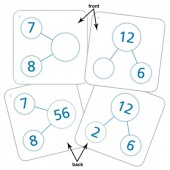 Singapore Math Number-Bond Cards for Multiplication & Division