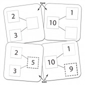 Singapore Math Number-Bond Cards For Addition & Subtraction