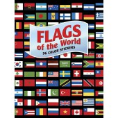 Flags of the World: 96 Color Stickers