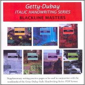 Italic Handwriting Blackline Masters Books A-G on CD (Getty-Dubay)
