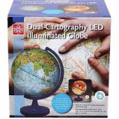 "11"" Dual-Cartography LED Illuminated Globe"
