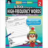 180 Days of High-Frequency Words for Second Grade  - Teacher Created Materials