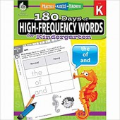 180 Days of High-Frequency Words for Kindergarten - Teacher Created Materials